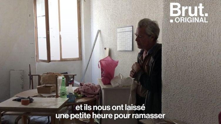 """VIDEO. Marseille : """"C'est vraiment une part de ma vie qu'on m'a arrachée"""", souffle un délogé (BRUT)"""
