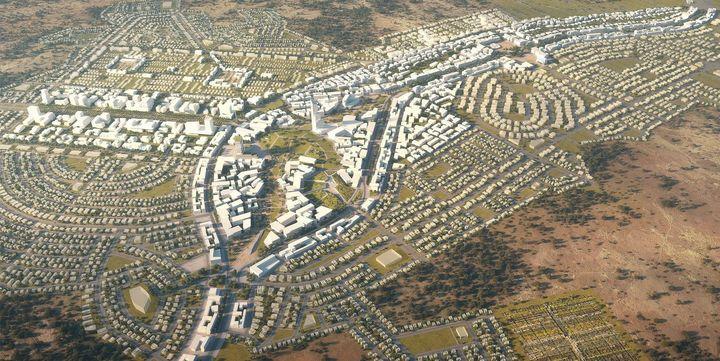 Yennenga, projet de ville nouvelle de 80 000 habitants, au sud de Ouagagougou (Agence Architecture-Studio)