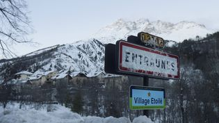 La station de ski d'Entraunes dans les Alpes-Maritimes, le 3 mars 2018. (MAXPPP)