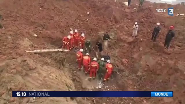 Chine : gigantesque glissement de terrain