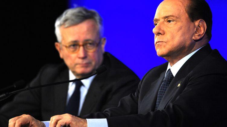 Le premier ministre italien Silvio Berlusconi lors du sommet du G20 de Cannes, vendredi 4 novembre 2011. (DYLAN MARTINEZ / REUTERS)