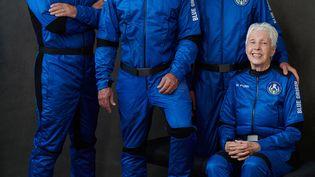 Mark Bezos, Jeff Bezos, Oliver Daemen, Wally Funk vont décoller le 20 juillet 2021 pour le premier vol habité de l'entreprise Blue Origin, créée par Jeff Bezos. (EYEPRESS NEWS)