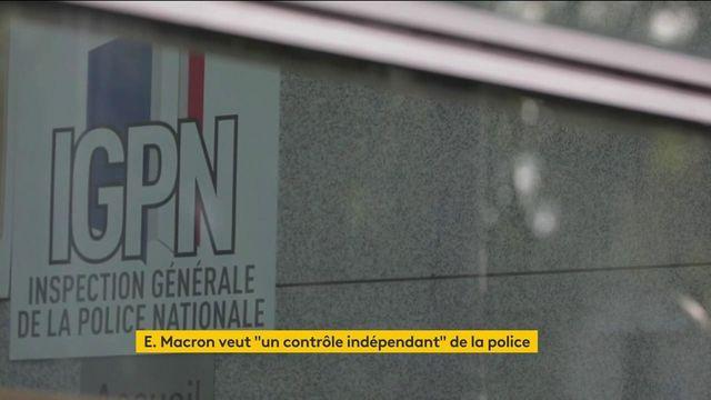 """Police : Emmanuel Macron veut mettre en place un """"contrôle indépendant"""