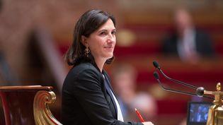 Sandrine Mazetier, députée PS de Paris, à l'Assemblée nationale. (SEBASTIEN MUYLAERT/WOSTOK PRESS / MAXPPP)