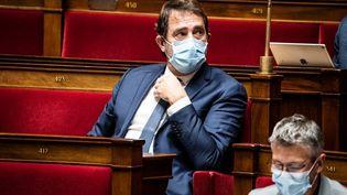 Le chef de file des députés LREM, Christophe Castanerà l'Assemblée nationale, à Paris, le 3 novembre 2020. (XOS? BOUZAS / HANS LUCAS / AFP)