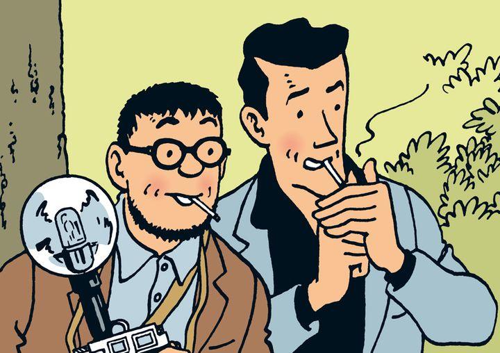 Walter Rizotto et Jean-Loup de la Batellerie dans les albums de Tintin  (Tintin.com)