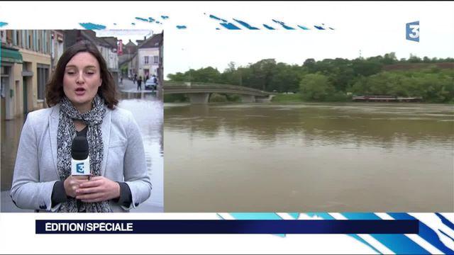 Inondations : Le Loing en crue alimente la Seine