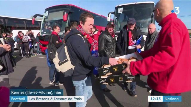 Football : les supporters de Rennes se préparent avant la finale de la Coupe de France face au PSG