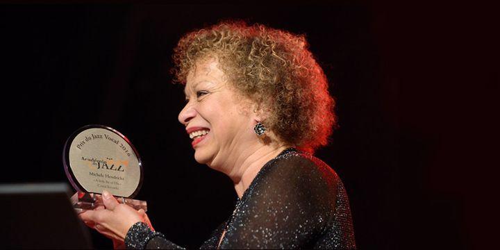 Michele Hendricks reçoit son Prix du Jazz vocal (22 janvier 2017)  (Philippe Marchin / Académie du Jazz)