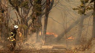 750 hectares ont été parcourus par les flammes entre Saint Cannat et Eguilles. (MAXPPP)
