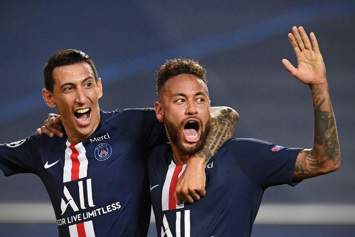 La photo d'Angel Di Maria et Neymar retenue par le Daily Mail (DAVID RAMOS / POOL)