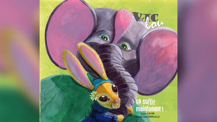 """Lucie Cayervient de publier un livre jeunessecontre le harcèlement scolaire,""""Vic et Lou - Ça suffit maintenant!""""(éditions Grrr… Art). (éditions Grrr… Art)"""