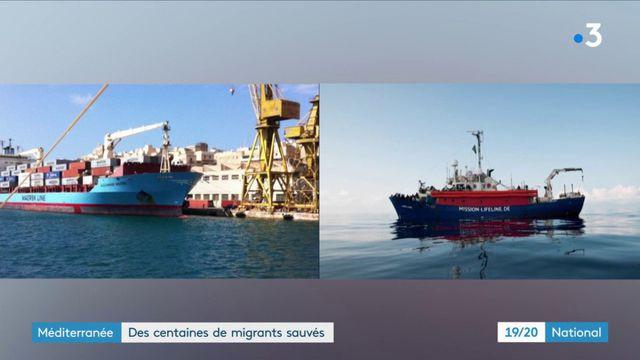 Méditerranée : des centaines de migrants sauvés des eaux