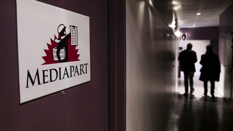 Les locaux de Mediapart, à Paris, le 9 mars 2017. (MAXPPP)