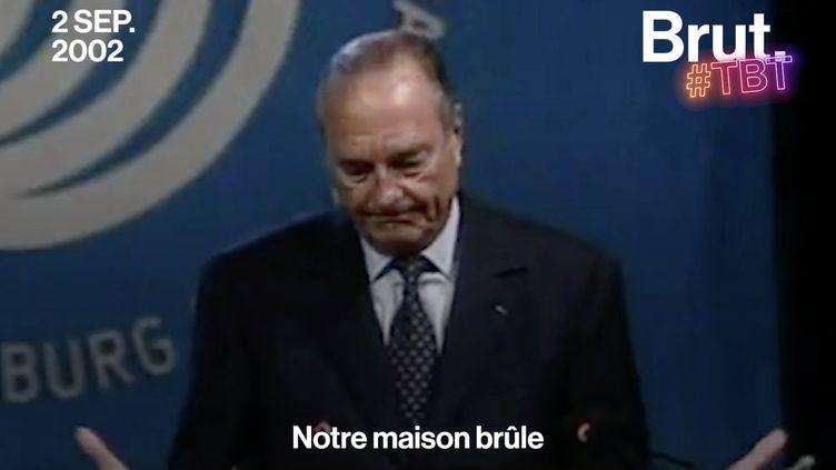 """VIDEO. """"Notre maison brûle et nous regardons ailleurs"""" : le discours visionnaire de Jacques Chirac à Johannesburg (BRUT)"""