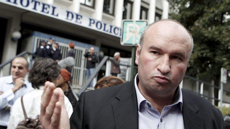 Daniel Chomette,le secrétaire général adjoint du syndicat Unité SGP-FO, le 2 octobre 2012 à Echirolles. (MAXPPP)