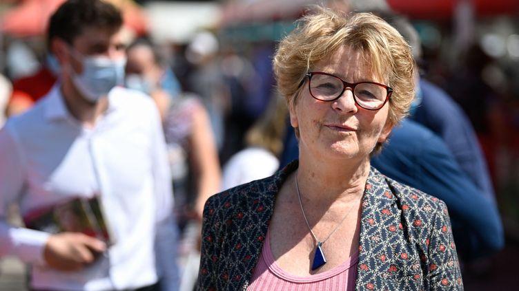 Marie-Guite Dufay, la présidente socialiste du conseil régional de Bourgogne-Franche-Comté, le 3 juin 2021. (SEBASTIEN BOZON / AFP)