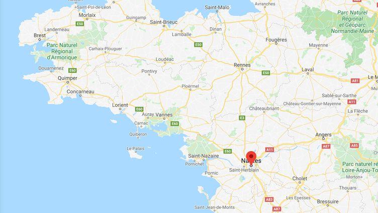 Une adolescente a été retrouvée morte à Nantes le 20 août dans les combles d'une maison en feu. (GOOGLE MAPS)