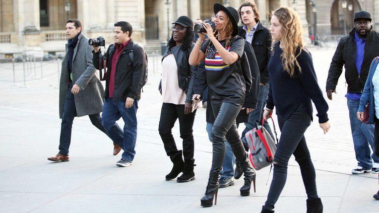 La chanteuse américaine Beyonce en 2014 en visite au Louvre (CALPIX/SIPA)