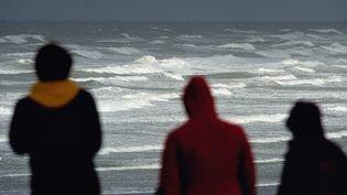 AWimereux, dans le Pas-de-Calais,lors d'une tempête en octobre 2013. (PHILIPPE HUGUEN / AFP)