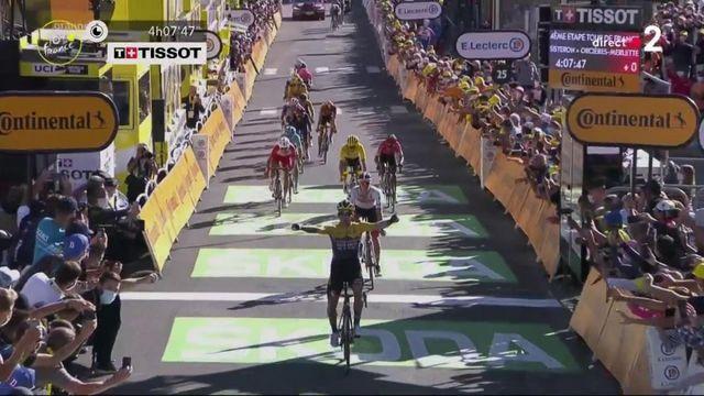 Victoire de Primoz Roglic lors de la 4e étape du Tour de France à Orcières-Merlette