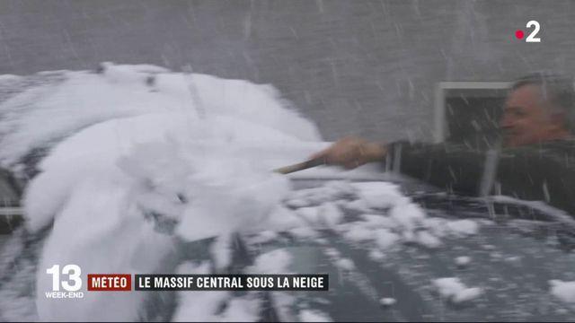 Météo : le Massif central sous la neige