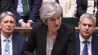 La Première ministre du Royaume-Uni, Theresa May, le 29 janvier 2019. (OLI SCARFF / AFP)