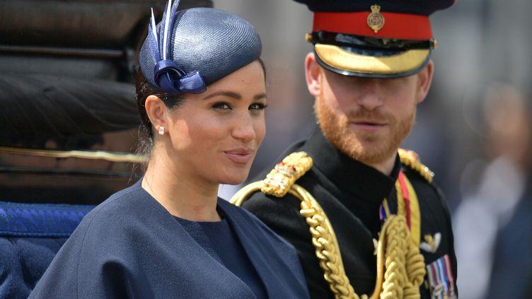 Le Prince Harry et Meghan Markle à Londres (Grande Bretagne), le 8 juin 2019. (DANIEL LEAL-OLIVAS / AFP)