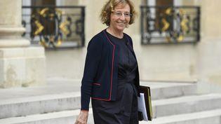 La ministre du Travail, Muriel Pénicaud, sort de l'Elysée, à Paris, le 9 août 2017. (BERTRAND GUAY / AFP)