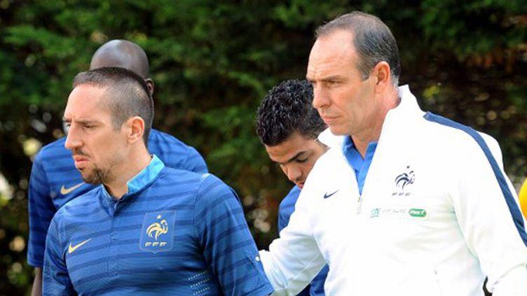 Alain Boghossian aux côtés de Franck Ribéry et de Hatem Ben Arfa