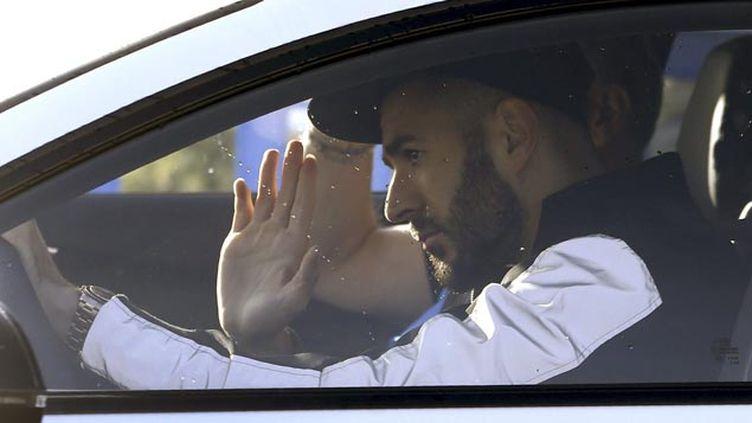 (Les enquêteurs disposent d'une écoute téléphonique entre Karim Benzema et l'un des maîtres-chanteurs présumés © MaxPPP)