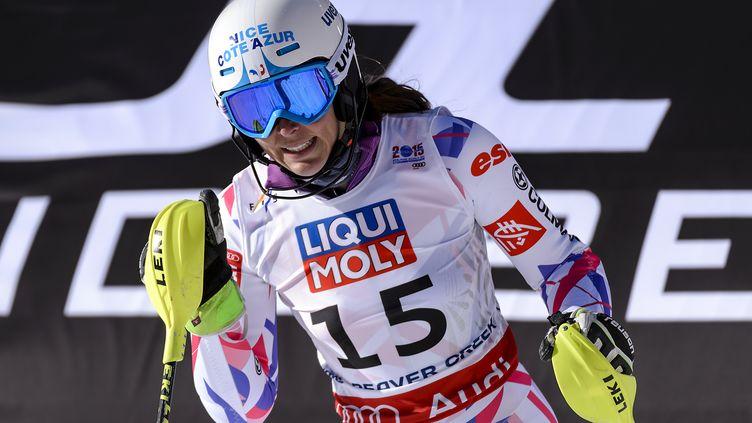 La skieuse française Nastasia Noens. (FABRICE COFFRINI / AFP)