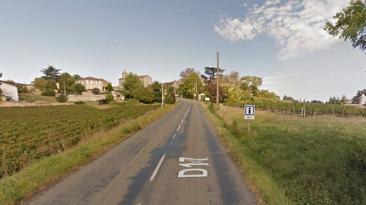 L'accident s'est produit à la sortie du village de Puisseguin (Gironde), le 23 octobre 2015. (GOOGLE STREET VIEW)