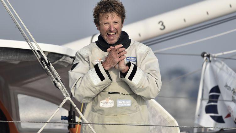 Le skipper français Jean-Pierre Dick (JEAN-SEBASTIEN EVRARD / AFP)