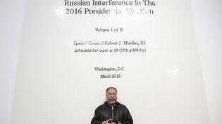 L'artiste chinois Ai Weiwei dans une galerie à Londres, en octobre 2019 (ALASTAIR GRANT/AP/SIPA / SIPA)