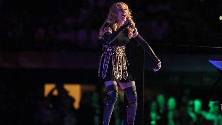 Madonna au Super Bowl, le 5 février 2012  (Gregory Payan / NBC / AP / SIPA)