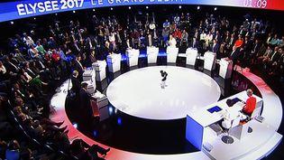 Débat pour la présidentielle de 2017 de BFMTV et CNews, le 4 avril 2017. (MAXPPP)
