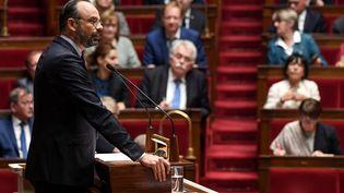 Edouard Philippe à l'Assemblée nationale à Paris, le 12 juin 2019, lors de son discours de politique générale. (ALAIN JOCARD / AFP)