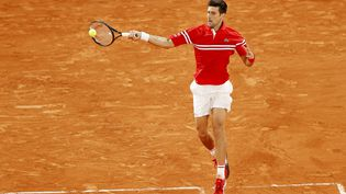 Novak Djokovic contre Rafael Nadal, le 11 juin 2021. (NICOL KNIGHTMAN / NICOL KNIGHTMAN)