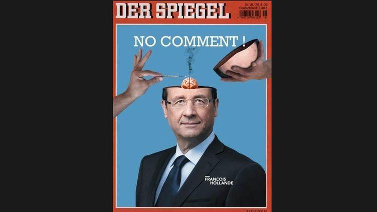 """Capture d'écran de la fausse couverture de """"Der Spiegel"""" qui a circulé sur internet, samedi 29 juin 2013. ( FRANCETV INFO)"""