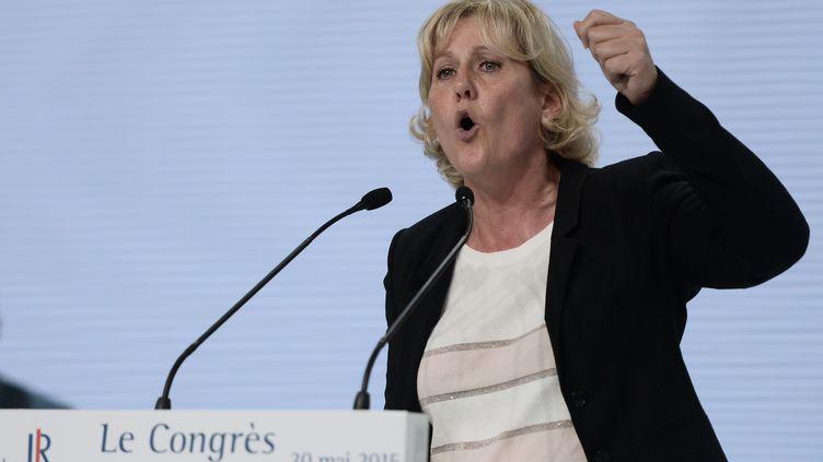 La députée européenne des Républicains, Nadine Morano, lors du congrès de son parti, le 30 mai 2015 à Paris. (STEPHANE DE SAKUTIN / AFP)