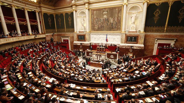 Les écologistes se sont abstenus et le Front de gauche, tout comme l'opposition de droite, a voté contre. (BENOIT TESSIER / REUTERS)
