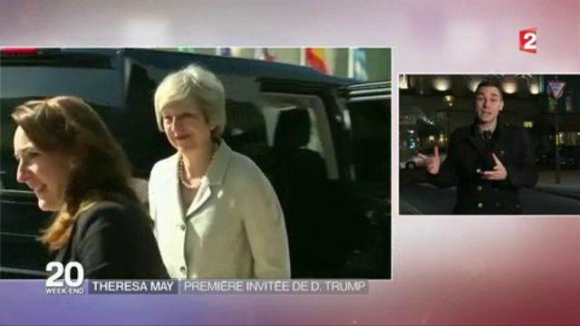 Theresa May : pTheresa May : première invitée du président Trumpremière invitée du président Trump