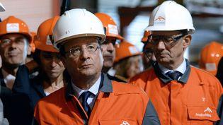Le président François Hollande, à Florange, le 26 novembre 2013. (PATRICK HERTZOG / AFP)