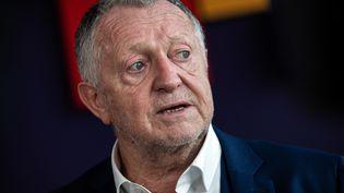 Jean-Michel Aulas, président de l'Olympique lyonnais, en octobre 2020. (JEFF PACHOUD / AFP)