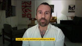 Benjamin Cano Planès, agent immobilier français installéà Rio de Janeiro (FRANCEINFO)