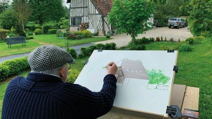 Le peintre David Hockney chez lui en Normandie (France 3 Normandie)