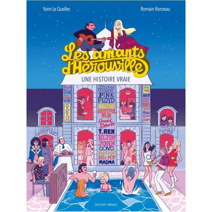 """Première de couverture du roman graphique """"Les Amants D'Hérouville - Une histoire vraie"""" de Yann Le Quellec et Romain Ronzeau. (ROMAIN RONZEAU / DELCOURT)"""