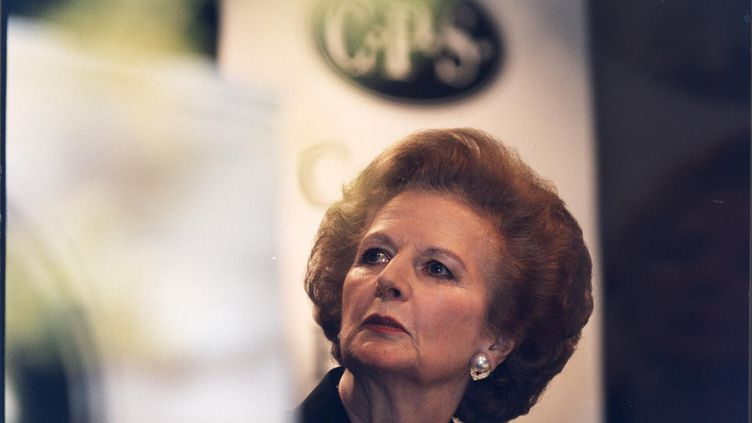 Margaret Thatcher, en 1996, six ans après avoir démissionné du poste de Première ministre. (THE GUARDIAN / SIPA)