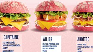 Capture écran du site de la société speed-burger qui commercialise des burgers roses pour la Coupe du monde féminine de football. (www.speed-burger.com)